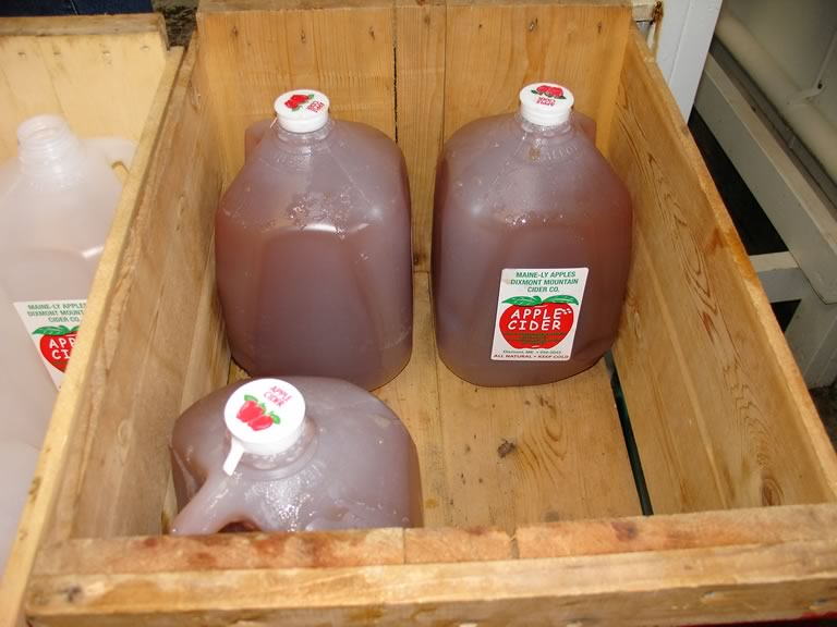 cider in jugs